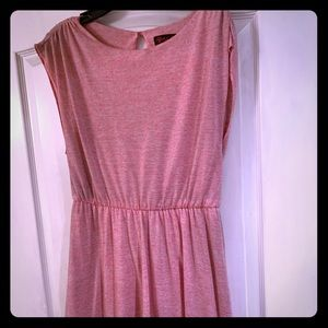 Alice + Olivia Air open back pink minidress